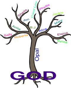 Pray-er Tree Clip Art
