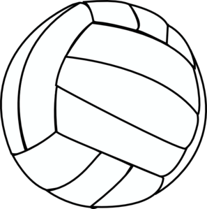 volleyball thin clip art at clker com vector clip art online rh clker com clip art volleyball girls clipart volleyball pictures