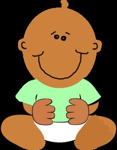 black baby clip art at clker com vector clip art online royalty rh clker com african american baby boy clipart african american baby angel clipart