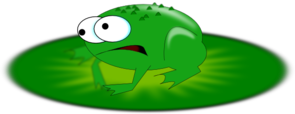 Cartoonish Frog Clip Art