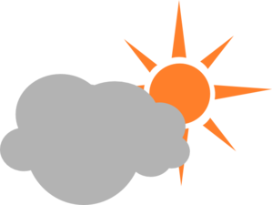 Weather Symbol Semicloudy Day Clip Art