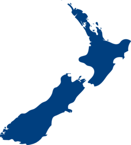 New Zealand Map Illustration Clip Art