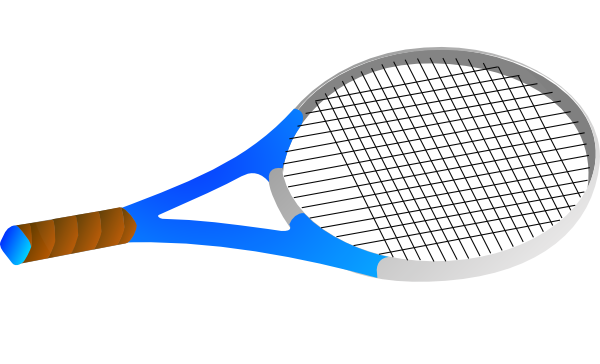 Clip Art Tennis Racquet Clip Art horizontal tennis racquet clip art at clker com vector download this image as