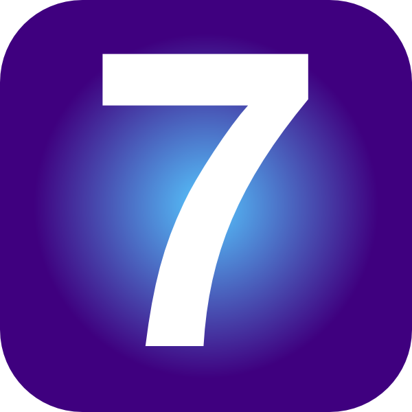 number 7 clip art at clker com