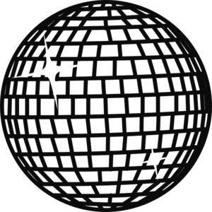 disco ball coloring page snow disco ball white clip art at vector clip