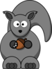 Grey Squirrel Clip Art