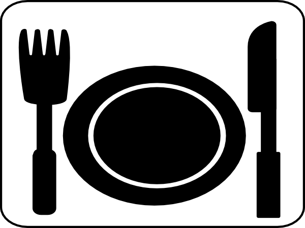 place setting dinner knife fork plate clip art at clker com vector rh clker com table setting clipart free table setting clipart