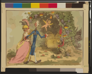 The Nuptial-bower; - With The Evil-one, Peeping At The Charms Of Eden, From Milton  / Js. Gy. Inv. & Fect. Clip Art