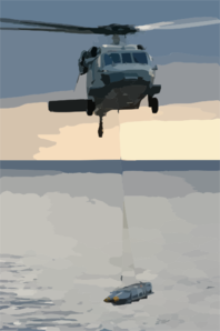 An Mh-60s Knighthawk Transports Ordnance From The Usns Supply (t-aoe 6) To Uss George Washington (cvn 73) In Preparation For Their Upcoming Deployment. Clip Art
