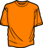 T-shirt-orange Clip Art