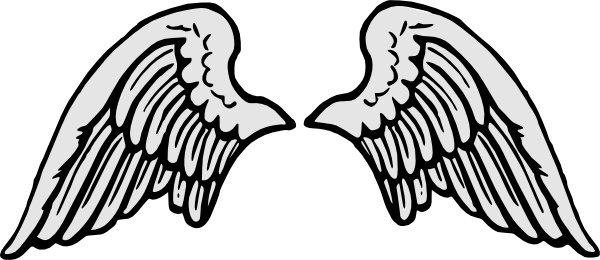 stone gray angel wings clip art at clker com vector clip art rh clker com angel wing patterns clipart angel wings clip art images