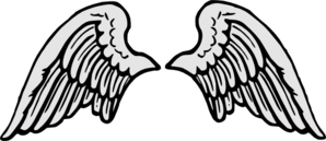 Stone Gray Angel Wings Clip Art