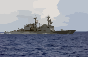 Uss Thorn (dd 988) Sails In The Atlantic Ocean As It Conducts Work Ups Before An Upcoming Scheduled Six-month Deployment. Clip Art