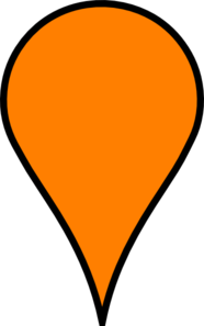 Orange Pin Clip Art