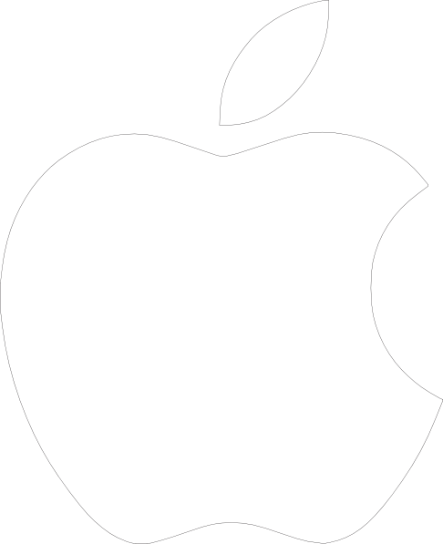 White Apple Logo On Black Background clip artWhite Apple Logo Black Background