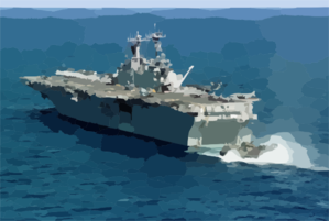 Lcac Returns To Uss Kearsarge (lhd 3). Clip Art