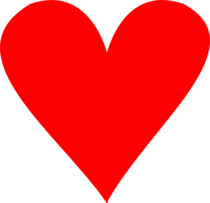 Heart Red Red Clip Art