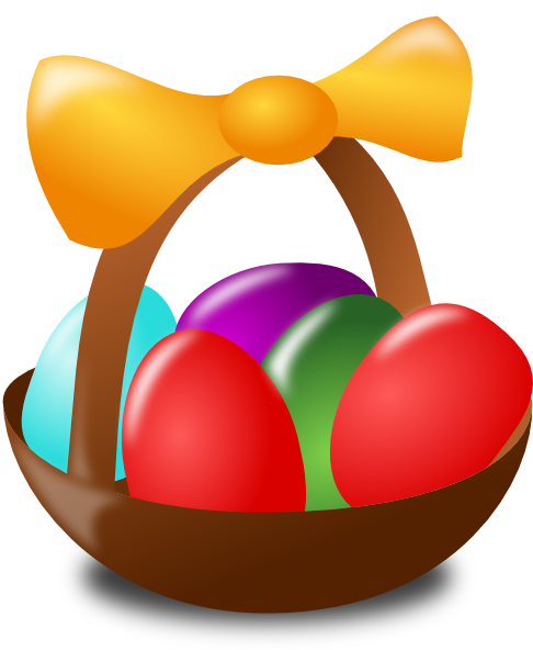 clip art easter basket images. Easter Egg Basket