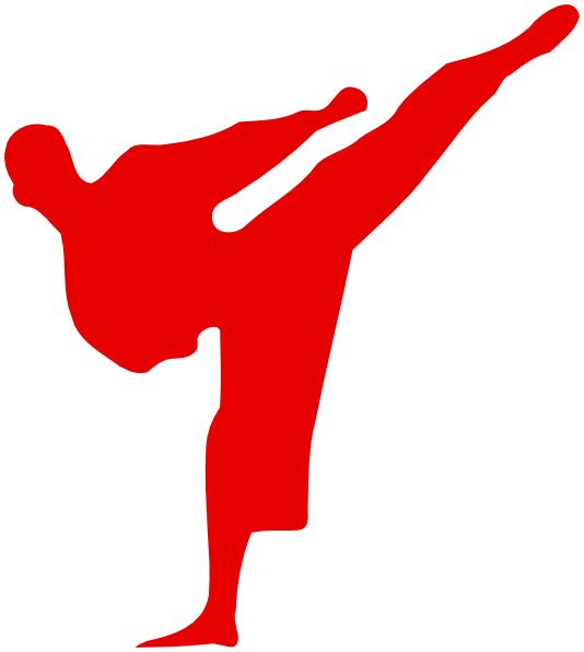 Red Man Kicking Clip Art At Clker Com Vector Clip Art