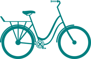 Bicycle - Teal Clip Art