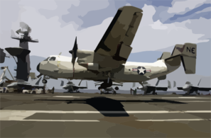 A C-2 Greyhound Makes An Arrested Landing On The Flight Deck Aboard Uss John C. Stennis (cvn 74) Clip Art