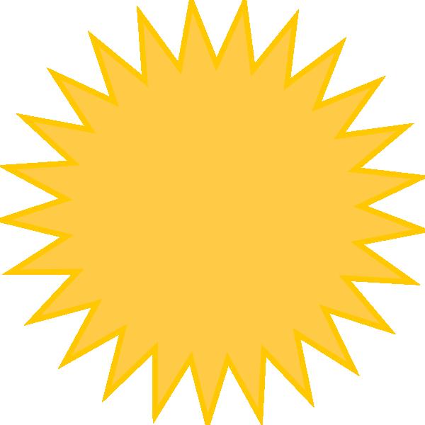 Golden Sun Yellow Clip Art at Clker.com - vector clip art online ...