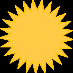 Golden Sun Yellow Clip Art