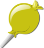Yellow Lolly Clip Art