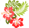 Hibiscus Party Invite Clip Art