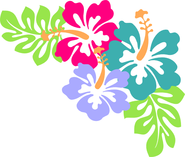 Hibiscus Corner Clip Art At Clker