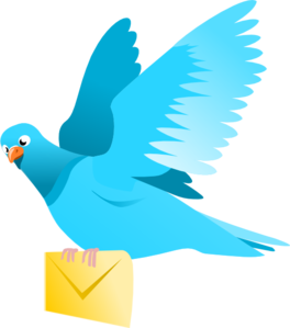 A Flying Pigeon Delivering A Message Clip Art
