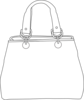 White Purse Clip Art