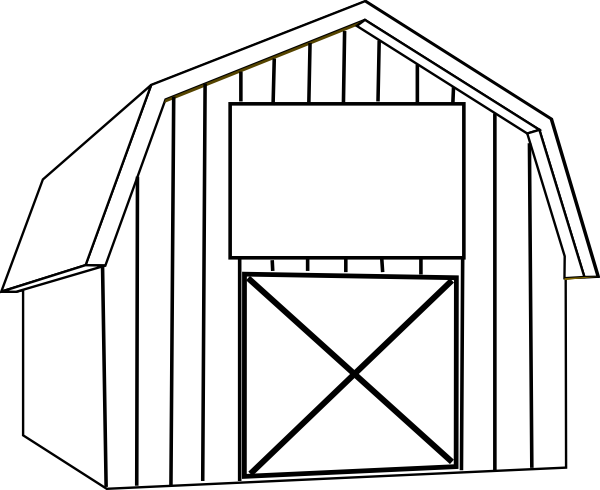 black white barn clip art at clker com