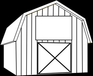 Black White Barn Clip Art