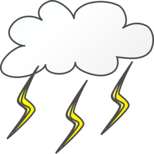 Lightening Cloud Clip Art