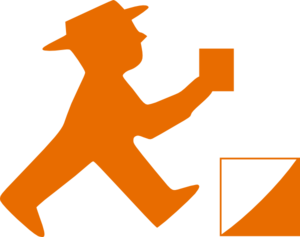 Burnt Orange Man Clip Art