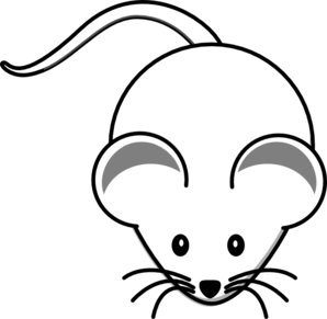 White Mouse Graphic Clip Art