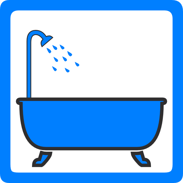 tub and shower clip art at clker com vector clip art