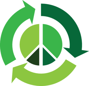 Recycle With Peace Symbol Clip Art