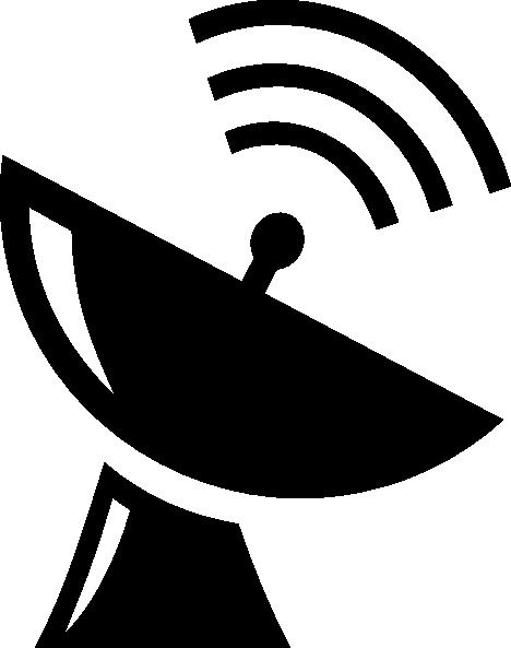 satellite dish icon clip art at clkercom vector clip