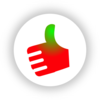 Thumb Up Red-green Clip Art