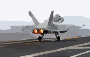 An F/a-18c Hornet Assigned To The Fist Of The Fleet Of Strike Fighter Squadron Two Five (vfa-25) Goes To Full Afterburner As It Performs A Touch-and-go Landing Aboard The Nuclear Powered Aircraft Carrier Uss John C. Stennis (cvn 74). Clip Art