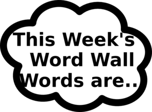 Word Wall Words1 Clip Art