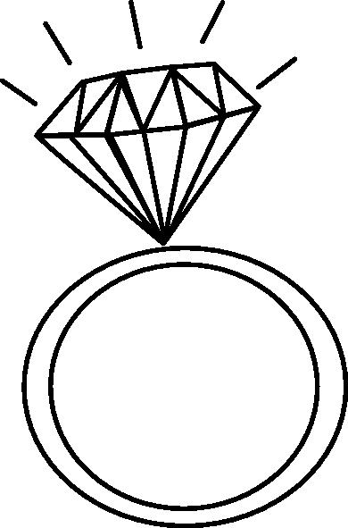Diamond Ring Outline Clip Art At Clker Com Vector Clip