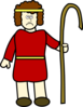 Shepherd David - Sad Clip Art