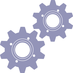 Gears - 2 Sizes Clip Art
