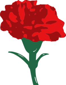 red carnation clip art at clker com vector clip art online rh clker com carnation clip art free carnation border clip art