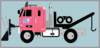 Tow Truck With Snow Plow Clip Art