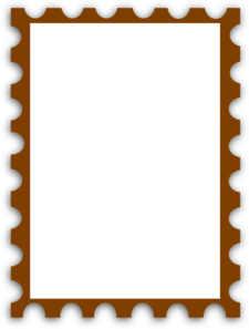 Blank Postage Stamp Clip Art At Clkercom Vector