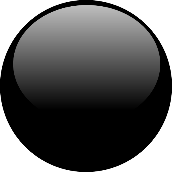 Glossy Black Icon Button Clip Art at Clker.com - vector ...